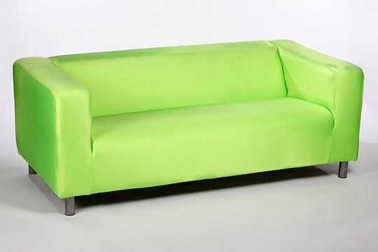 Lime green sofas lime green sofa with pillows model obj for Lime green sofa