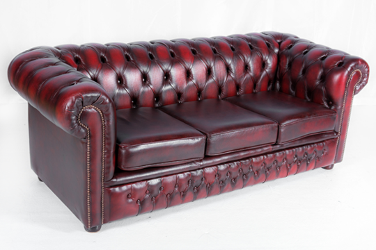 Oxblood Leather Chesterfield Sofa Total Event Rental