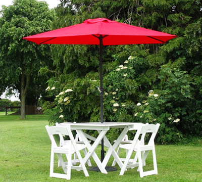 OUTDOOR Gallery Total Event Rental - Picnic table parasol