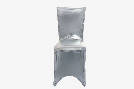 Swell Metallic Silver Chair Cover Total Event Rental Beatyapartments Chair Design Images Beatyapartmentscom